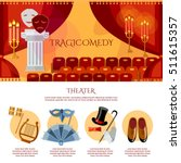 theater infographics comedy and ... | Shutterstock .eps vector #511615357