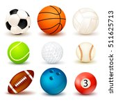 3d shape ball icon set with... | Shutterstock .eps vector #511625713