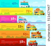 colored food truck infographic... | Shutterstock .eps vector #511627447