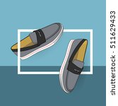 men shoes retro poster design... | Shutterstock .eps vector #511629433