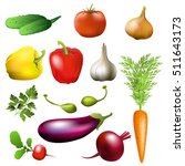 vegetables. set of vector... | Shutterstock .eps vector #511643173