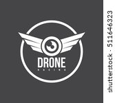 drone logo isolated on a dark... | Shutterstock .eps vector #511646323