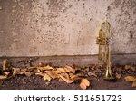 old worn trumpet stands alone... | Shutterstock . vector #511651723
