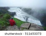 gullfoss waterfall in the... | Shutterstock . vector #511653373
