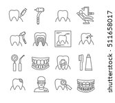 set of dentistry related vector ... | Shutterstock .eps vector #511658017