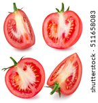 collection of tomatoes isolated ... | Shutterstock . vector #511658083