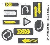 grunge arrows. vector...   Shutterstock .eps vector #511658677