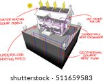 3d illustration of a house with ... | Shutterstock .eps vector #511659583