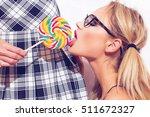 sexy blonde lesbian woman in... | Shutterstock . vector #511672327