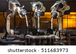 robots welding team in the... | Shutterstock . vector #511683973