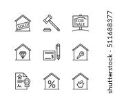 thin line icons set about real... | Shutterstock .eps vector #511688377