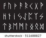 rune set of letters  runes... | Shutterstock .eps vector #511688827