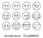 emoticon vector illustration.... | Shutterstock .eps vector #511688833