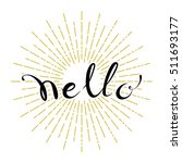 hello hand drawn lettering on... | Shutterstock .eps vector #511693177