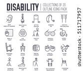 care people with disabled thin... | Shutterstock .eps vector #511717957