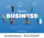 office work business banner