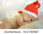 Newborn In Santa Hat