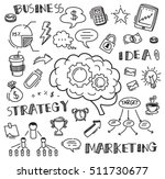hand drawn business doodle... | Shutterstock .eps vector #511730677