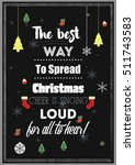 christmas quote. the best way... | Shutterstock .eps vector #511743583