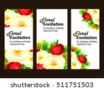 romantic invitation. wedding ... | Shutterstock . vector #511751503