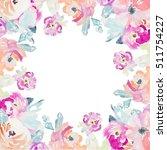 watercolor flower background | Shutterstock . vector #511754227