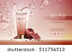 pomegranate facial foam... | Shutterstock .eps vector #511756513