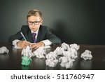 inspired school boy writing... | Shutterstock . vector #511760947