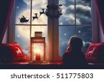 merry christmas and happy... | Shutterstock . vector #511775803