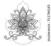 vector ornamental lotus flower  ... | Shutterstock .eps vector #511786183