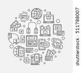 money transfer round linear... | Shutterstock .eps vector #511788007