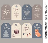 set of beautiful christmas gift ... | Shutterstock .eps vector #511789357
