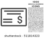 dollar cheque vector icon with... | Shutterstock .eps vector #511814323