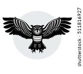 owl in flight  with... | Shutterstock .eps vector #511816927