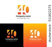 40 logo icon flat and vector... | Shutterstock .eps vector #511822273