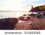 runner resting from routine... | Shutterstock . vector #511833283