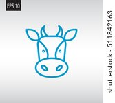 cow icon flat. | Shutterstock .eps vector #511842163