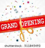grand opening banner with... | Shutterstock .eps vector #511845493