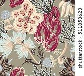 floral seamless pattern. hand... | Shutterstock .eps vector #511853623