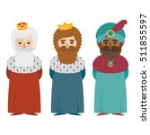 the three kings of orient... | Shutterstock .eps vector #511855597