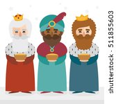 the three kings of orient... | Shutterstock .eps vector #511855603