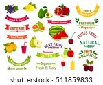 fruit emblems  ribbons  labels... | Shutterstock .eps vector #511859833