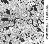 London Monochrome Map Artprint...
