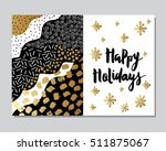 happy holidays card template.... | Shutterstock .eps vector #511875067