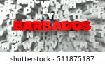 Barbados    Red Text On...