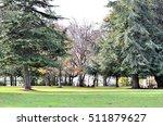 autumn park  landscape with... | Shutterstock . vector #511879627