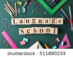 colourful stationery and words... | Shutterstock . vector #511880233