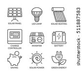 basic solar energy equipment ... | Shutterstock .eps vector #511887583