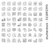 real estate and building icon... | Shutterstock .eps vector #511892593