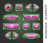 cartoon pink  buttons with...