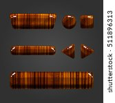 set of wooden button  with... | Shutterstock . vector #511896313